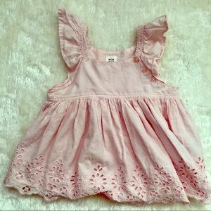 Baby Gap Eyelet Flutter Dress, 18-24 months